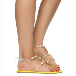 Liliana Shoes - LILIANA SHOES Women's Marlo-21 Sandals Yellow